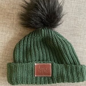 Love Your Melon - Green Snow Hat with Pom Pom